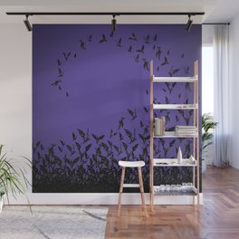 Night Hunters - purple Wall Mural