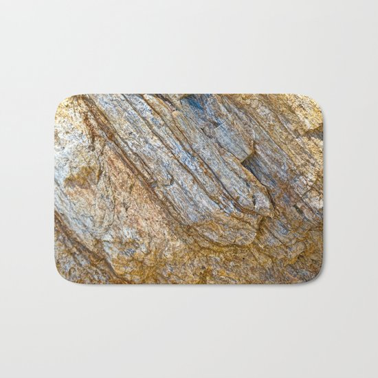 Stunning rock layers Bath Mat