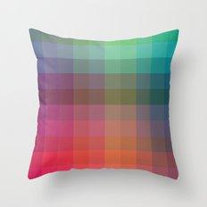 Rainbow Squares Throw Pillow