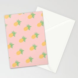 Pineapple - Light Pink Stationery Cards