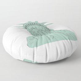 Lady Liberty Floor Pillow