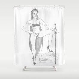 Saber Maid Shower Curtain