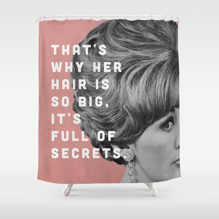Full of Secrets Shower Curtain
