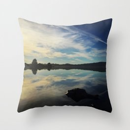 Highway mirror Throw Pillow