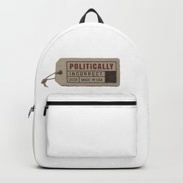 politically incorrect Backpack