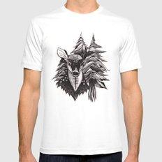 Spirit Deer MEDIUM Mens Fitted Tee White
