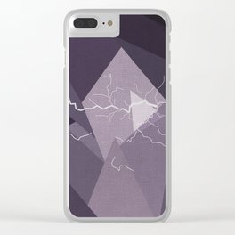 ABSTRACT STORM Clear iPhone Case