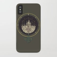 Fading Dahlia iPhone X Slim Case