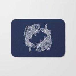 Indigo Navy Blue Koi Bath Mat