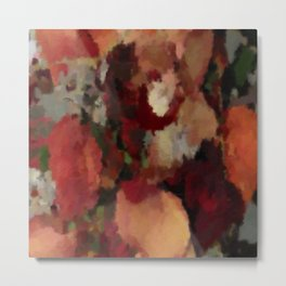 Autumn Mosaics Watercolor 2484 Metal Print