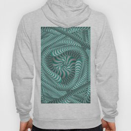 Mint green stripe illusion design Hoody