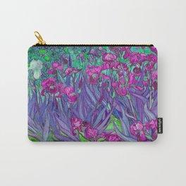 Vincent Van Gogh Irises Painting Violet Fuchsia Palette Carry-All Pouch