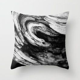 Burl With A Curl. Throw Pillow