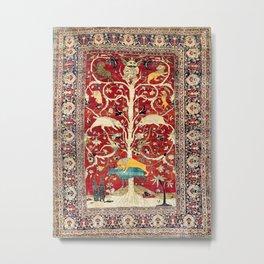 Silk Heriz Azerbaijan Northwest Persian Rug Print Metal Print