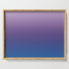 Ultra Violet Blue Lilac Ombre Gradient Pattern Serving Tray