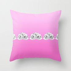 fuchsia lotus Throw Pillow
