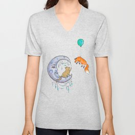 The fox and the cat Unisex V-Neck
