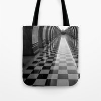 moscow Tote Bags featuring Moscow Metra by Kim Ramage