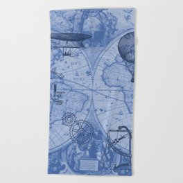 Steampunks in Blue Beach Towel
