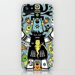 Guru Cat (blue time) iPhone Case