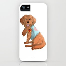 I Love Mom Tattoo Cockapoo Dog iPhone Case