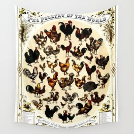 The Poultry of the World Wall Tapestry