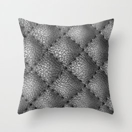 Gray leather pattern Throw Pillow