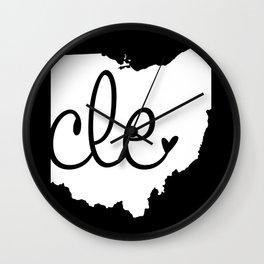 Love Cleveland Wall Clock