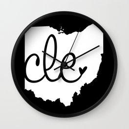 Love Cleveland Wall Clock