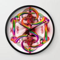 matrix Wall Clocks featuring Matrix by Brian Raggatt