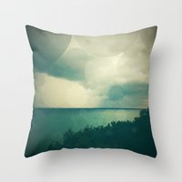 storm Throw Pillows featuring Storm by Olivia Joy StClaire