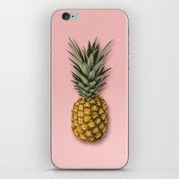 pineapple iPhone & iPod Skins featuring Pineapple by Marta Li
