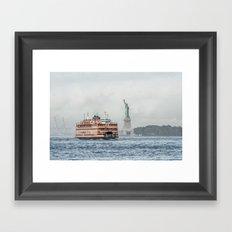 Staten Island Ferry & Statue of Liberty Framed Art Print