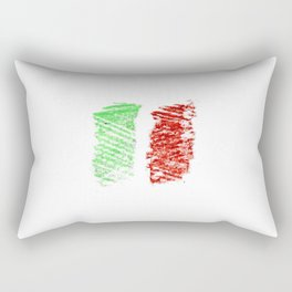 flag of Italia chalk- Italy,Italia,Italian,Latine,Roma,venezia,venice,mediterreanean,Genoa,firenze Rectangular Pillow