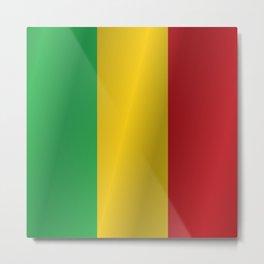 Flag of Mali Metal Print