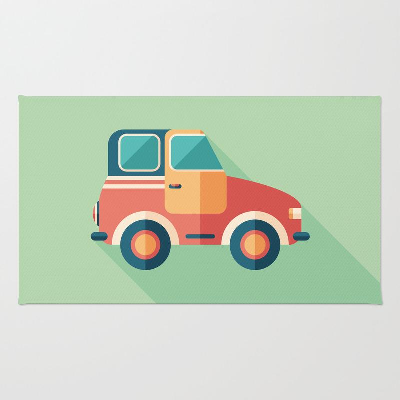Toy Retro Car Rug by Yuryvelikanov RUG8833228