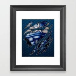 Modern Blue Captain steve iPhone 4 4s 5 5c 6, pillow case, mugs and tshirt Framed Art Print