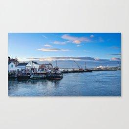 Tugboats At Dusk Canvas Print