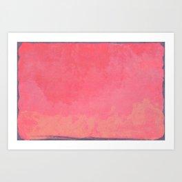 Minimal Abstract Fuschia Colorfield Painting 01 Art Print