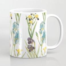 Vintage Floral Pattern | No. 2B | Iris Flowers | Irises Mug