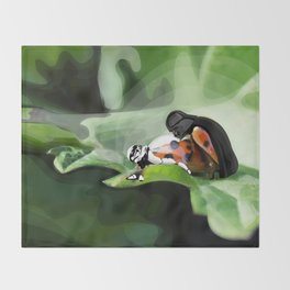 The strength of nature Throw Blanket