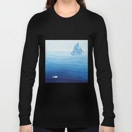 Lonely sailing ship Long Sleeve T-shirt