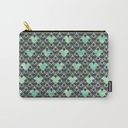 Mouse Ears Watercolor - Jasmine Mint Carry-All Pouch