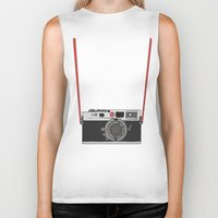 camera Biker Tanks featuring Camera by Illustrated by Jenny