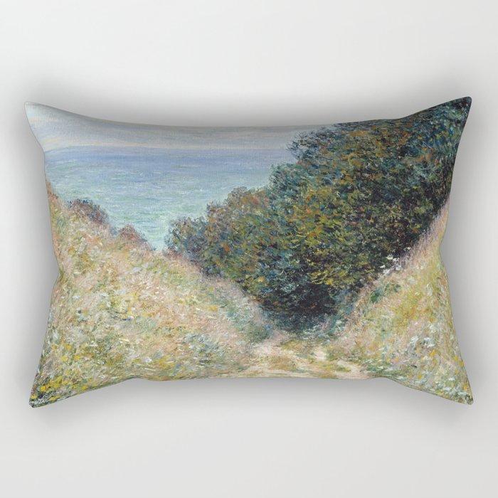1882-Claude Monet-Road at La Cavée, Pourville-60 x 81 Rectangular Pillow