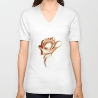 bambi V-neck T-shirts featuring bambi by starlightcafe_