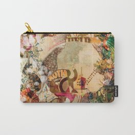 Art Vintage Sugar Skull Flowers Carry-All Pouch