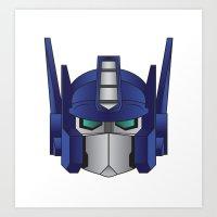 optimus prime Art Prints featuring Optimus Prime by Tombst0ne