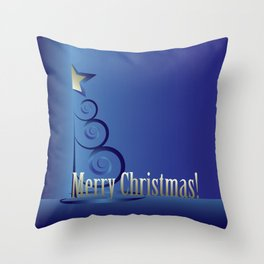 Sapphire Christmas tree Throw Pillow
