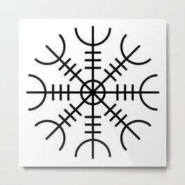 Icelandic Aegishjalmur Helm of Awe Rune Metal Print